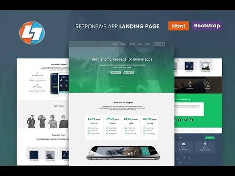 how to create landing page in html / Landing page using HTML and CSS