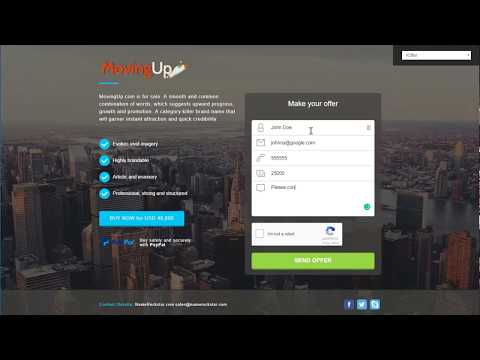 Customizable For-Sale landing pages – Efty
