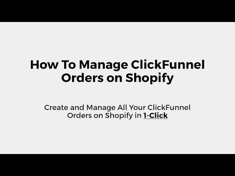 The 1-Click Method to Create ClickFunnel Orders on Shopify