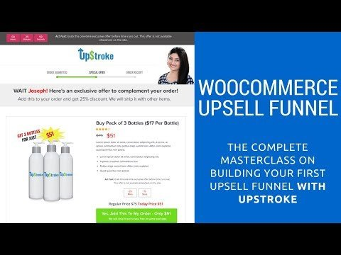 WooCommerce Sales Funnel For Post-Purchase Upsells (Full Masterclass)