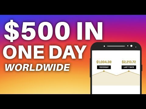 Get  $500 IN ONE DAY *Worldwide* (Make  On-line Now)