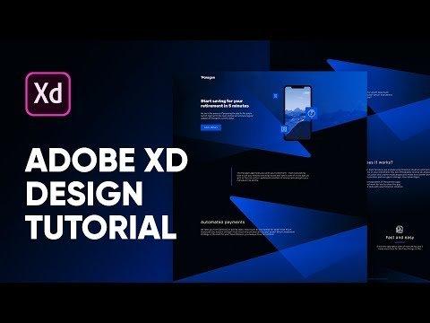 XD s Tutorial: App Landing Page