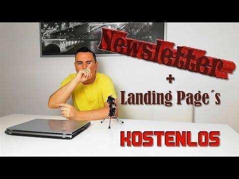 Enewsletter Dienst und Landings Page [KOSTENLOS]