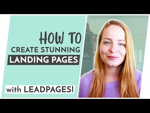 How To CREATE   Pages With Leadpages!