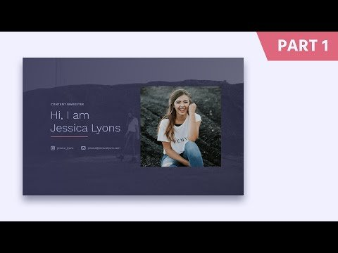 Figma Web Redesigned Tutorials: Abbout Me Landings