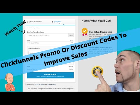 Addends Promo Or  Decoded In ClickFunnels For a 2 Steps Orderer Form