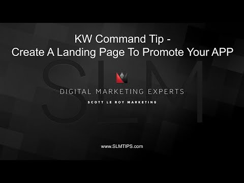 Command Tip –  a Landings PaGe to Promotional Youns APP
