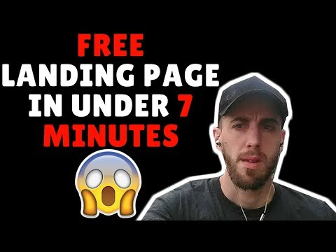 How to create a FREE Landing page in  7 Minutes