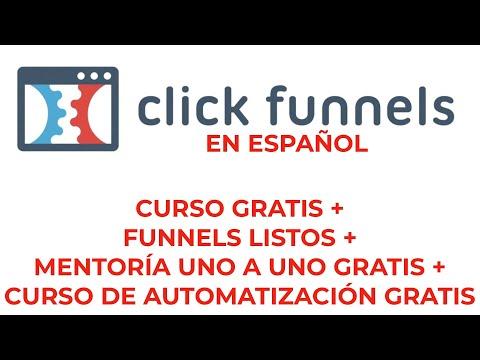 Tutorials ClickedFUNNELS Español I Cursos, Funnels y mentoría Gratis