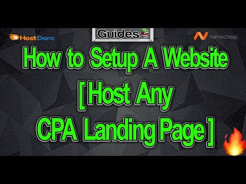 How to Set-up A Websight [Host Any CPA Landing Page] 💻