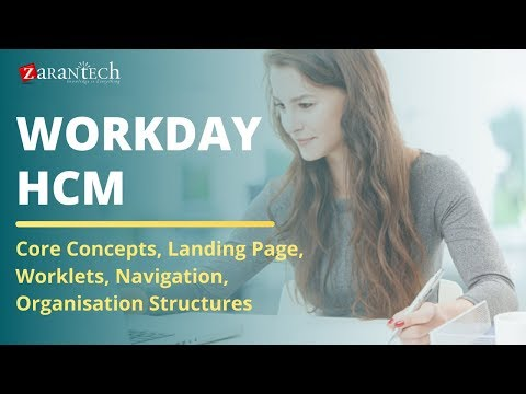 Workday HCM – Core Concepts, Landing Page, Worklets, Navigation, Org Structures | ZaranTech