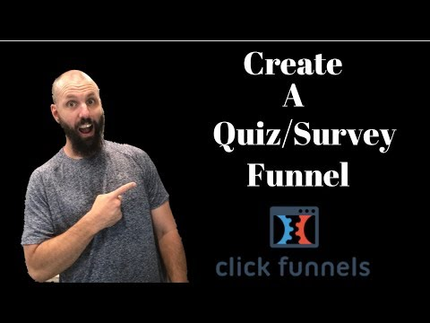 How To Create Quiz/Survey Funnels To Get More Leads (Clickfunnels)!