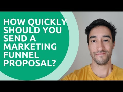 How quickly should you send a marketing funnel proposal?
