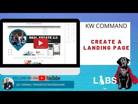 KW Command: Create Landing Page