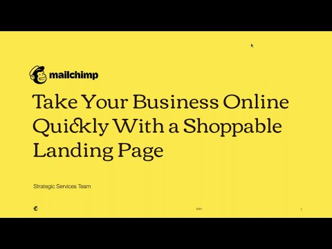 Take Your Business Online Quickly With a Shoppable Landing Page