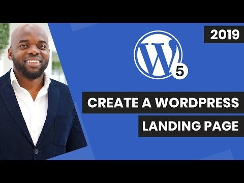 Gutenberg WordPress – How to create a landing page in WordPress