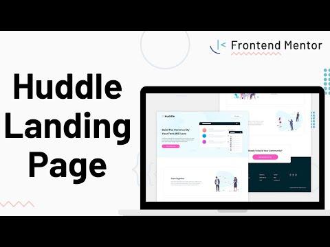 Huddle Landing Page – Design to HTML/CSS