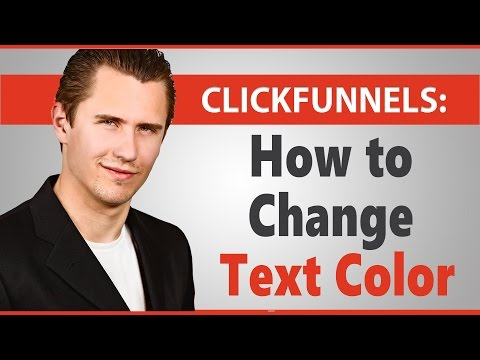 ClickFunnels: How to Change Text Color (More Customizable Option)