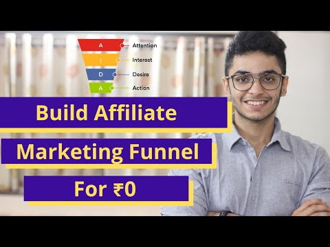 How To Build Affiliate Marketing Funnel For Free In Less Than 30 Minutes | ₹0 Funnel Tutorial -Hindi
