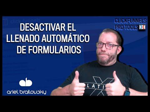 Cómo desactivar el llenado automático de mis formularios en Clickfunnels