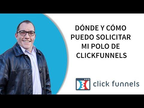 Dónde y cómo puedo solicitar mi polo de Clickfunnels