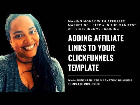 How to Add Affiliate Links in Clickfunnels Training