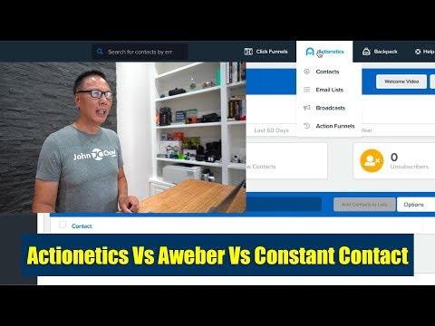 ClickFunnels Actionetics Vs Aweber Vs Constant Contact