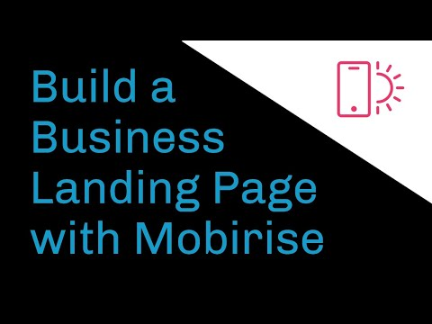 Build a Business Landing Page with #Mobirise