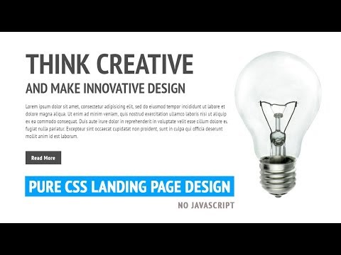 Pure CSS Landing Page Website Design | Html CSS
