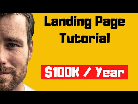 How To Create A Landing Page For Clickbank   How I Make $150K / Year!