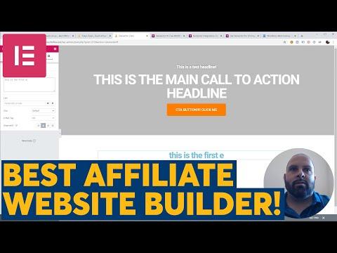 Best Affiliate Website Buillder : Elementor Pro : Skip Clickfunnels, Builderall, etc!