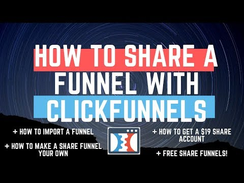 How To Share A Funnel With Clickfunnels  I  How To Import & Make It Your Own (+ FREE Share Funnels!)