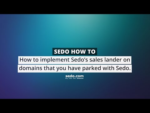 How to implement  Sedo's Sales Landing Page (on your parked domains)