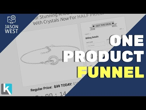 One Product Sales Funnel With Upsell and Downsell