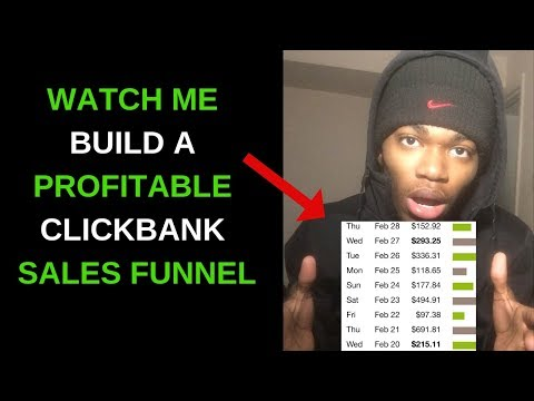 Clickbank Sales Funnel – Watch Me Build A Profitable Funnel In 20 Minutes