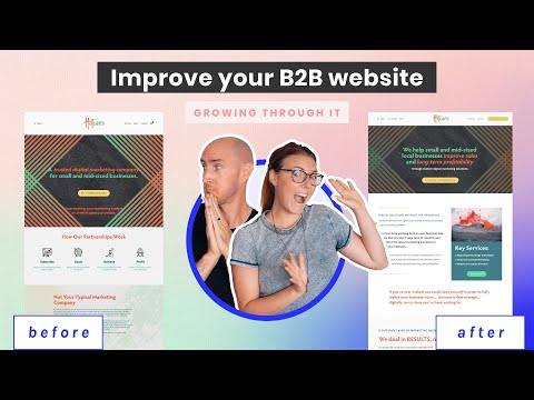 Watch us help a digital marketer redo their B2B sales funnel and website strategy (deep dive!)