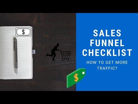 Sales Funnel Checklist   Getting Traffic