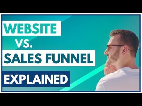 Website Vs Sales Funnel Explained!