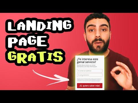 Cómo Crear una Landing Page GRATIS (rápido)