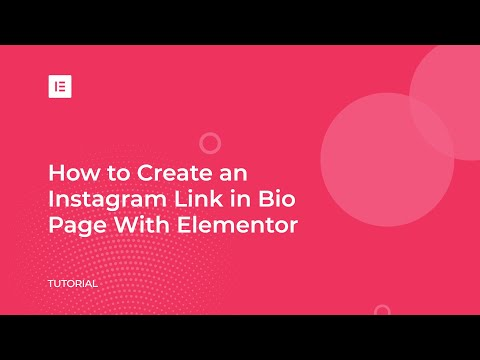 Create a Link in Bio Landing Page for Instagram With Elementor