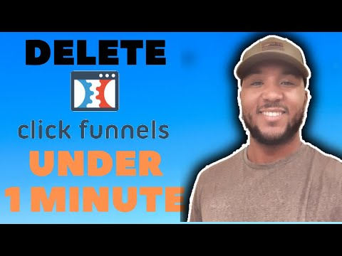 How To Delete A Clickfunnel (Under a MINUTE)