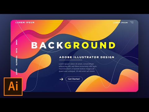 How to Create a Background for Landing Page In Adobe Illustrator