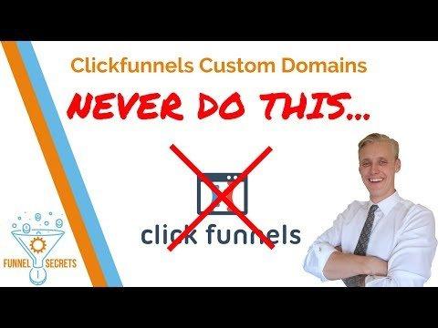 Clickfunnels Custom Domains 🔴 NEVER DO THIS 🔴