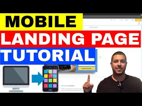 Mobile Landing Page Example – How To Build A Mobile Landing Page 🔥🔥