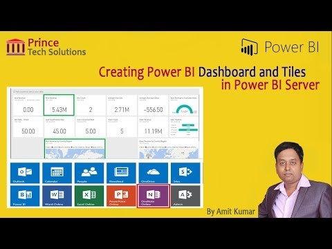 Power BI Tutorial | Creating Landing Page using Dashboard and Tiles