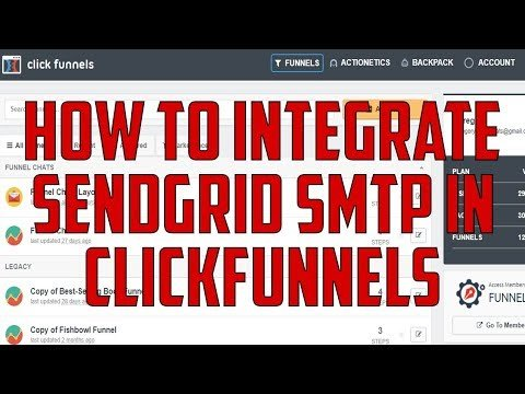 How To Integrate Sendgrid SMTP in Click Funnels