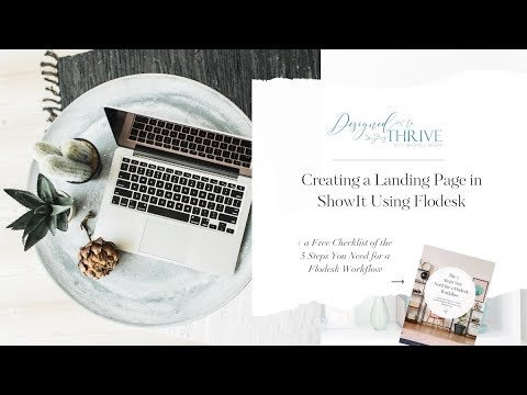 Flodesk 101   Creating a Landing Page Using Flodesk & Showit