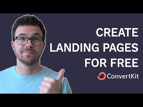 How to Create a Landing Page for Free with ConvertKit