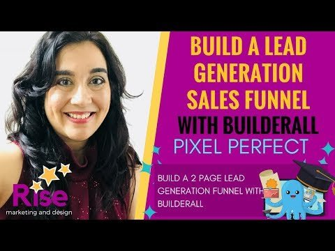 How To Build a *BASIC*  'LEAD GENERATION'  SALES FUNNEL  with BUILDERALL – Pixel Perfect