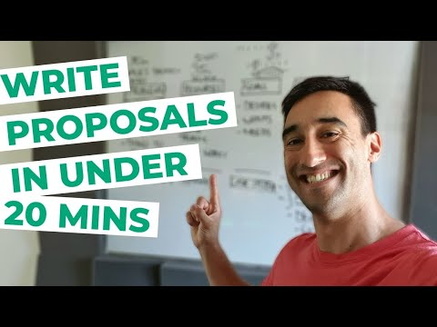 How to write a proposal FAST for marketing funnel projects